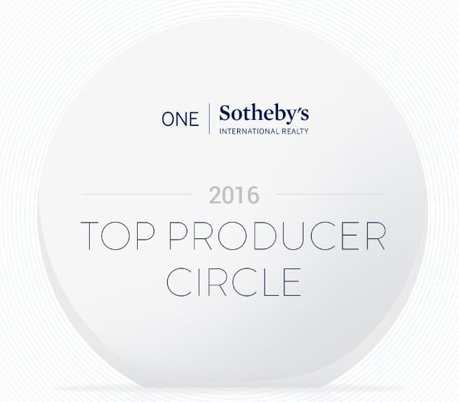Top Producer Circle 2016 ONE Sotheby's International Realty