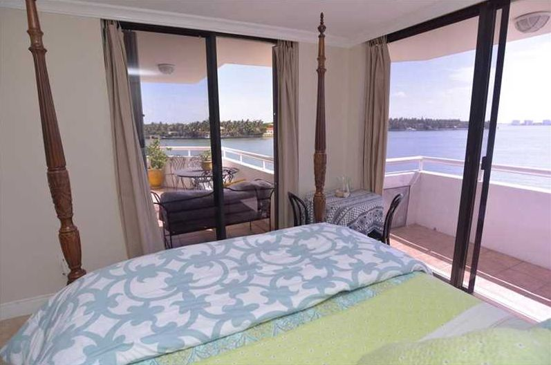 Indian Creek Club Marina Miami Beach master bedroom views