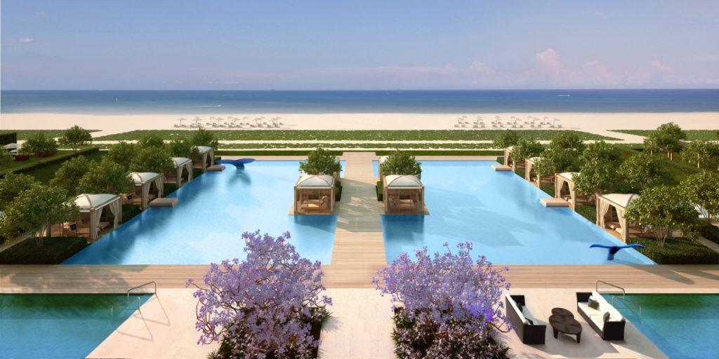 FENDI Chateau Surfside Miami Condos Ponds Pools